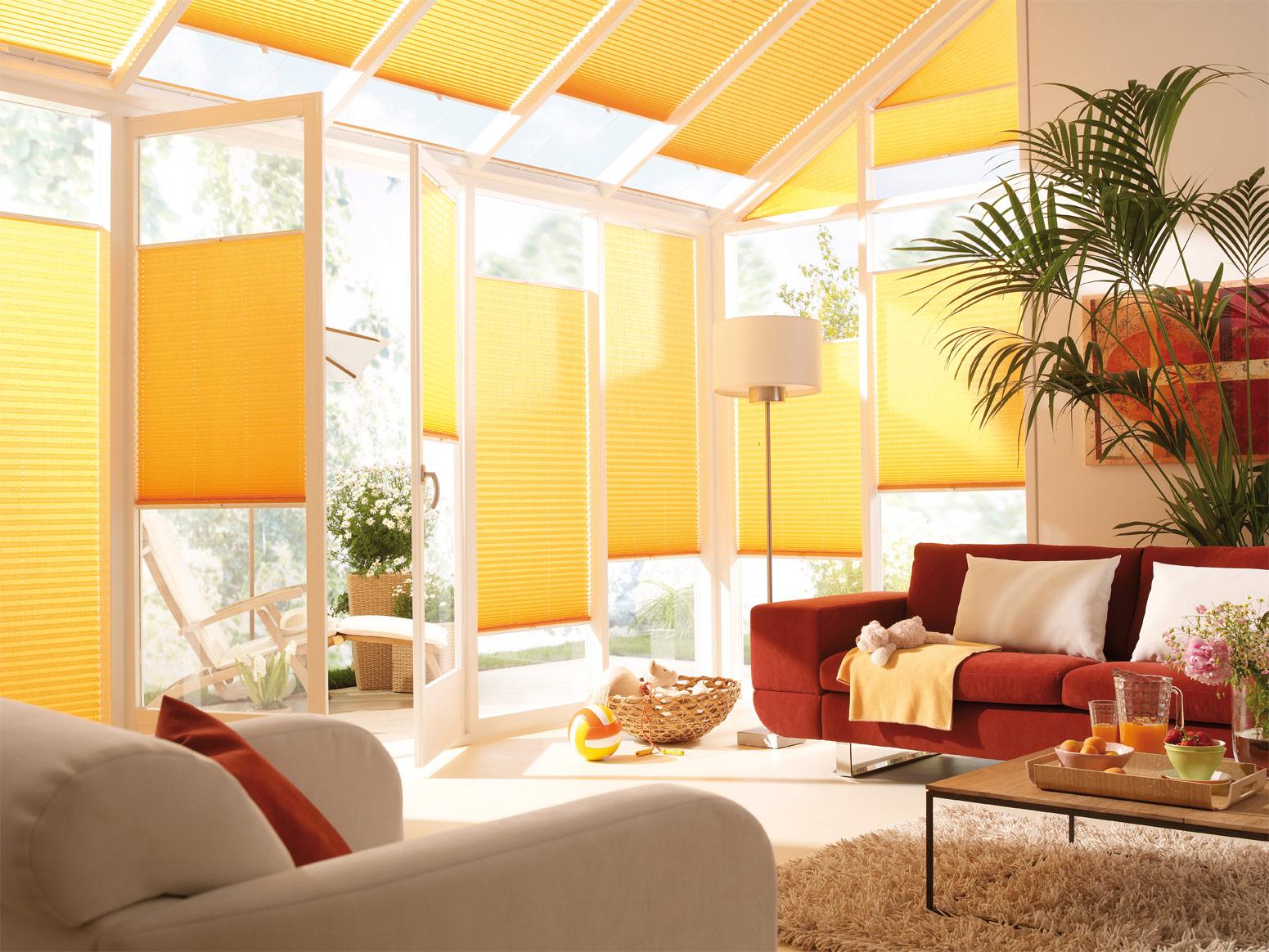 Ambiente Magic orange Plissee
