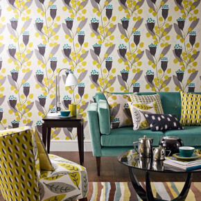 Tapete K800 Bellflower black yellow wallpaper portrait 1 lr