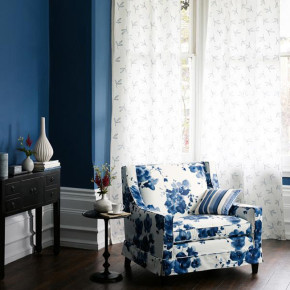 Tapete K800 Mandarin Flowers Indigo Room LR