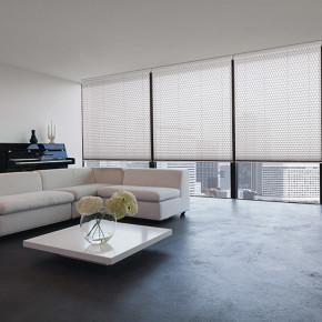 Weiß Sichtschutz Sonnenschutz Plissee Vorhänge Trendkarte CityTalk
