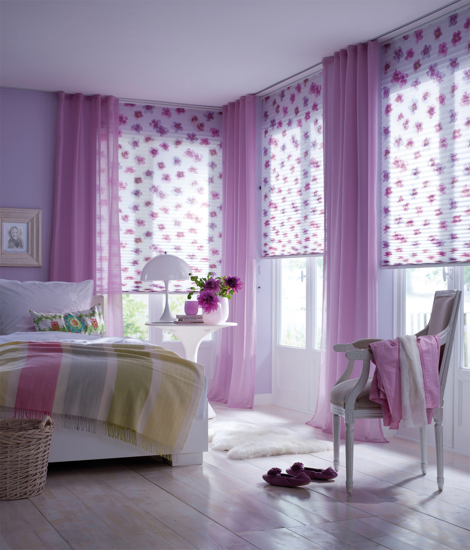 Faltstore Schlafzimmer lila