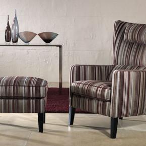 BW Polstermöbel Sessel gestreift